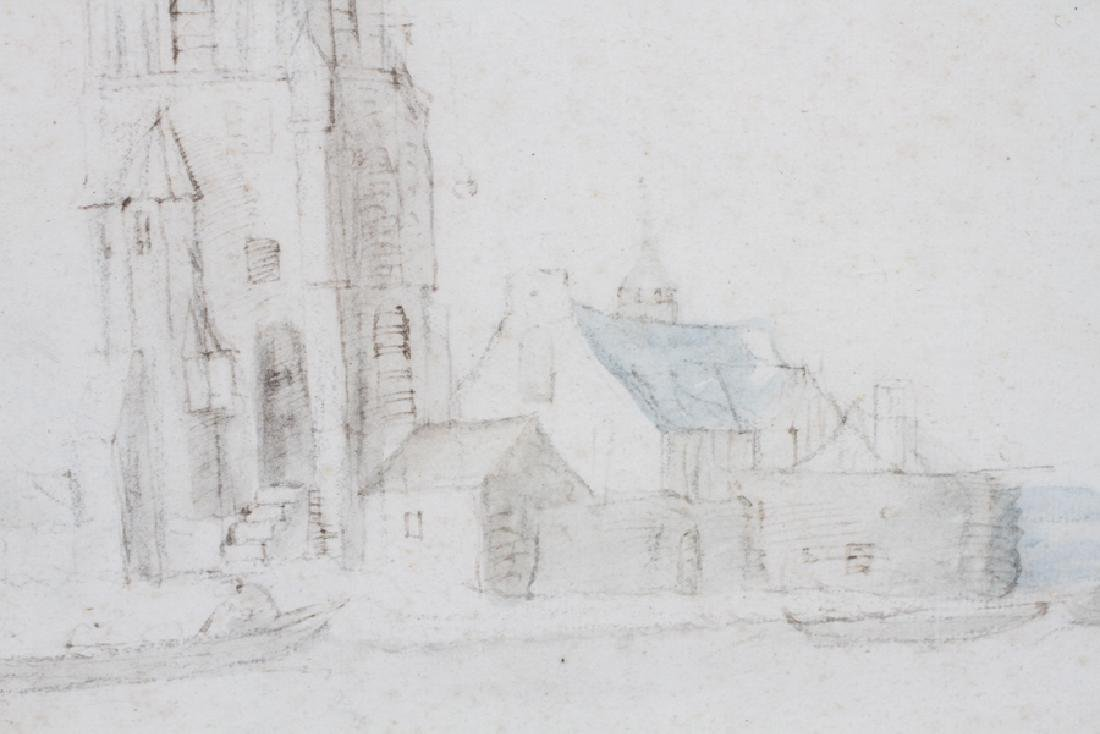 ATTRIBUTED TO JAN VAN GOYEN DRAWING ON PAPER - 3