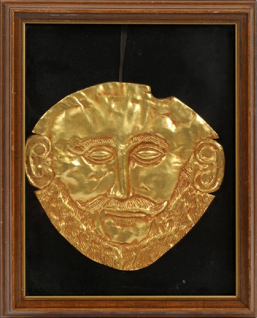 "GILT RESIN REPLICA AFTER ""MASK OF AGAMEMNON"""
