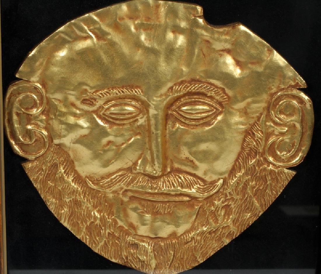 "GILT RESIN REPLICA AFTER ""MASK OF AGAMEMNON"" - 2"