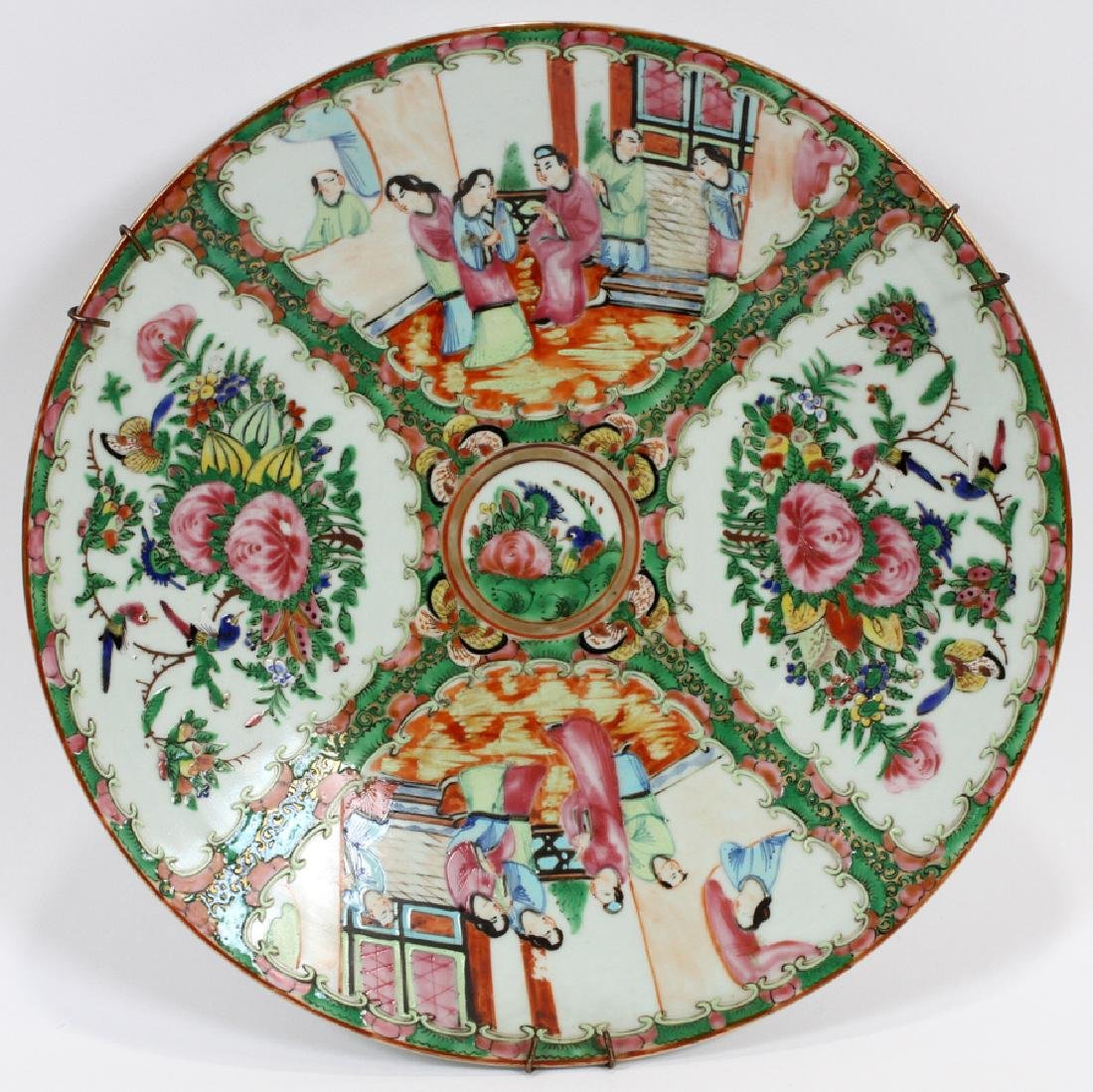 CHINESE, ROSE MEDALLION PORCELAIN  CHARGER
