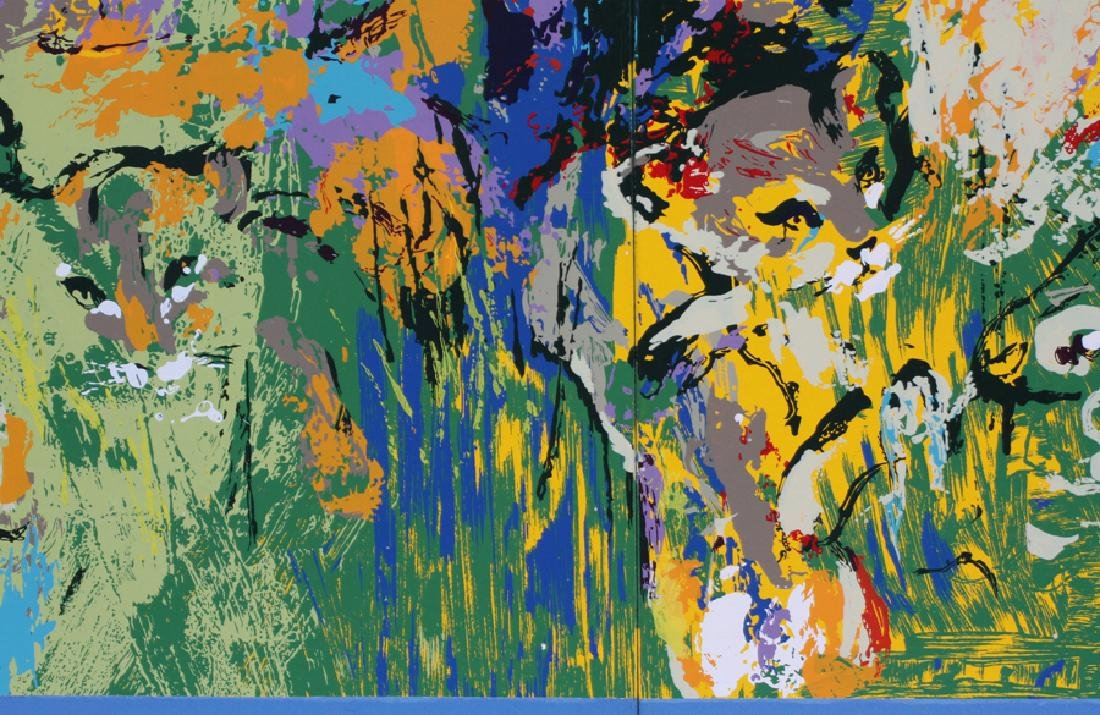LEROY NEIMAN 2 SECTION SILKSCREEN ON PAPER ON PANELS - 4