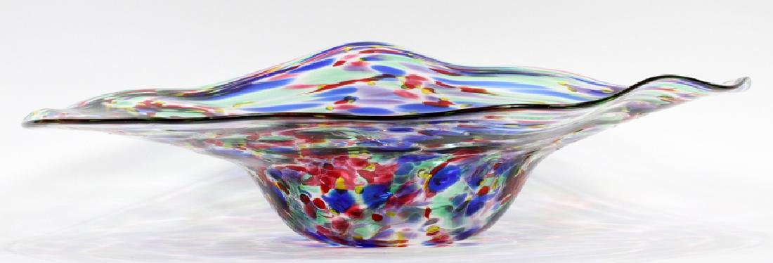 ARTHUR ALLISON SPATTER GLASS BOWL - 2