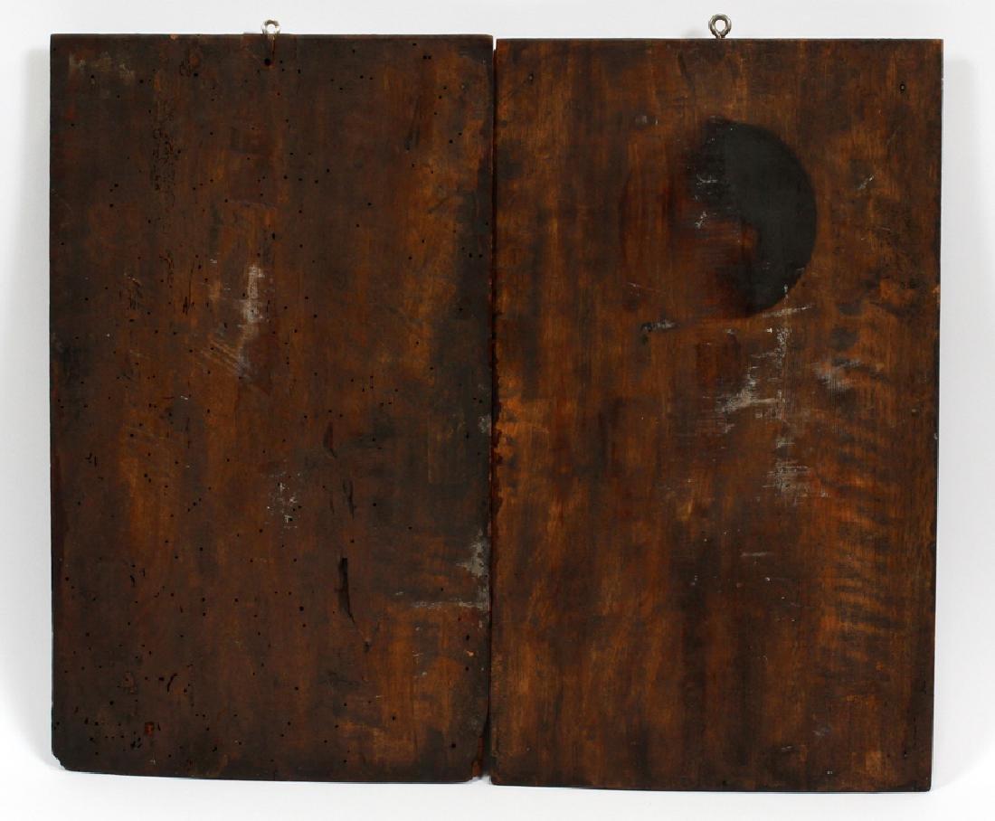 GERMAN CARVED BLACK FOREST OAK PLAQUES, C1900 - 3