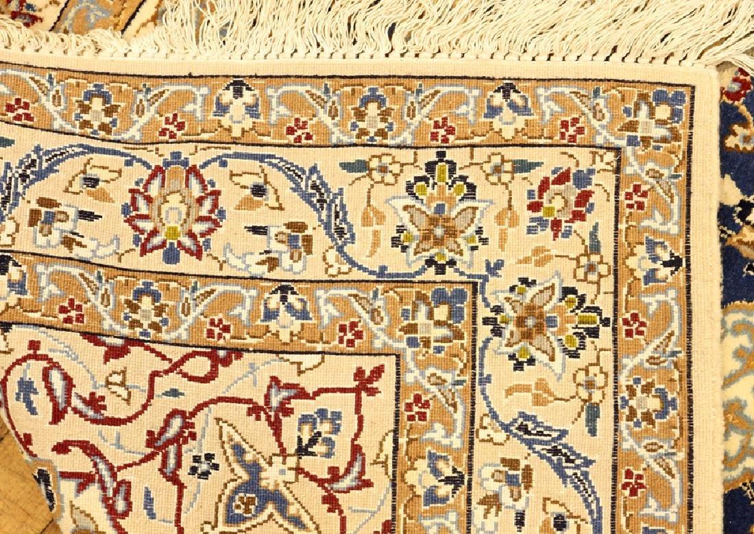 PERSIAN HAND WOVEN NAIN WOOL AND SILK RUG - 5