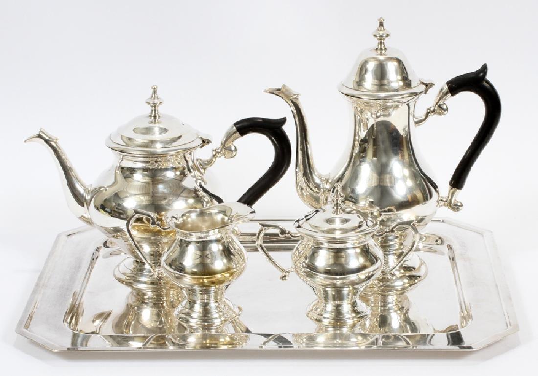 SILVER PLATED TEA & COFFEE SET, 5 PCS