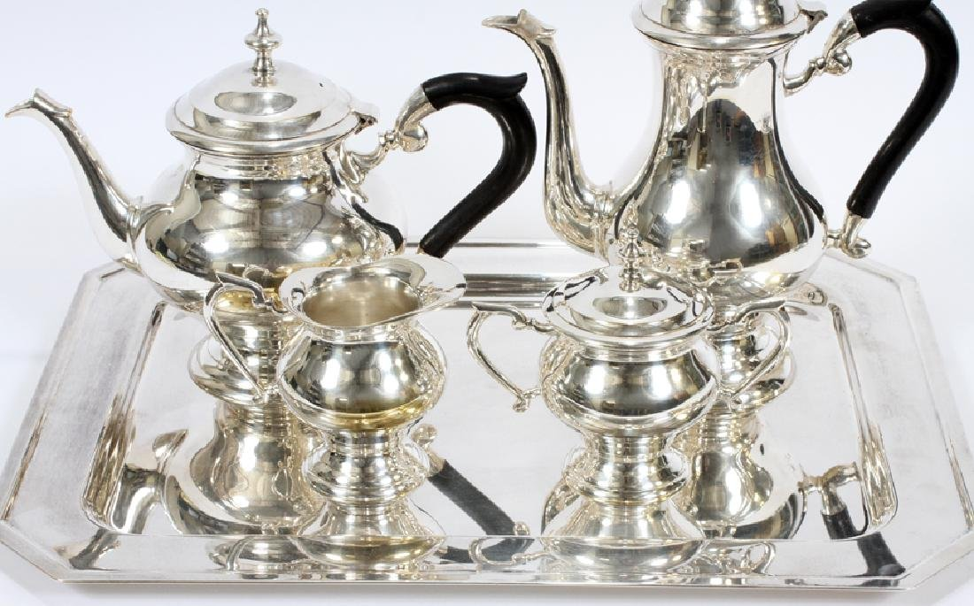 SILVER PLATED TEA & COFFEE SET, 5 PCS - 2
