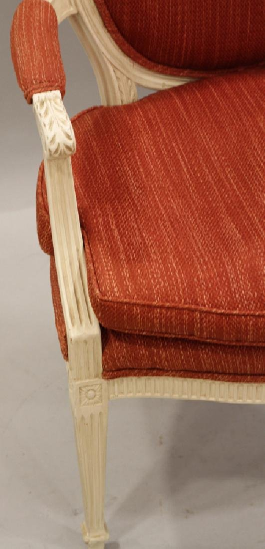 LOUIS XVI STYLE UPHOLSTERED SIDE CHAIR - 2