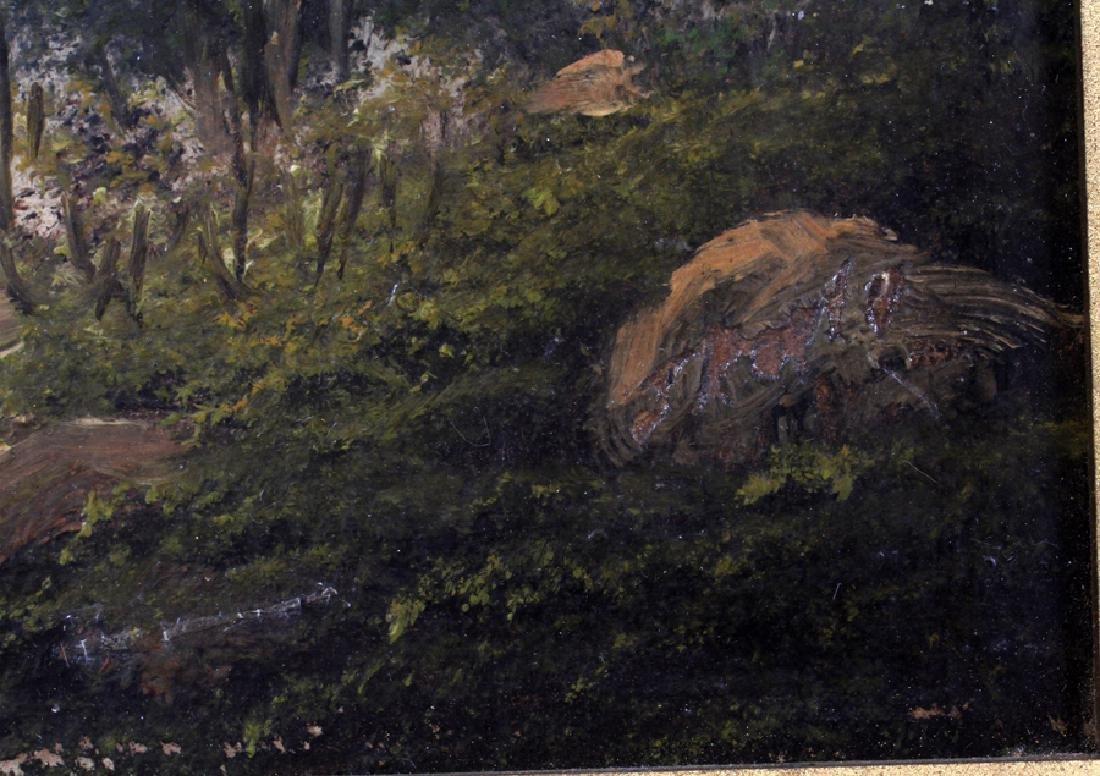 SIGNED OIL ON WOOD PANEL, CA. 1900 - 3