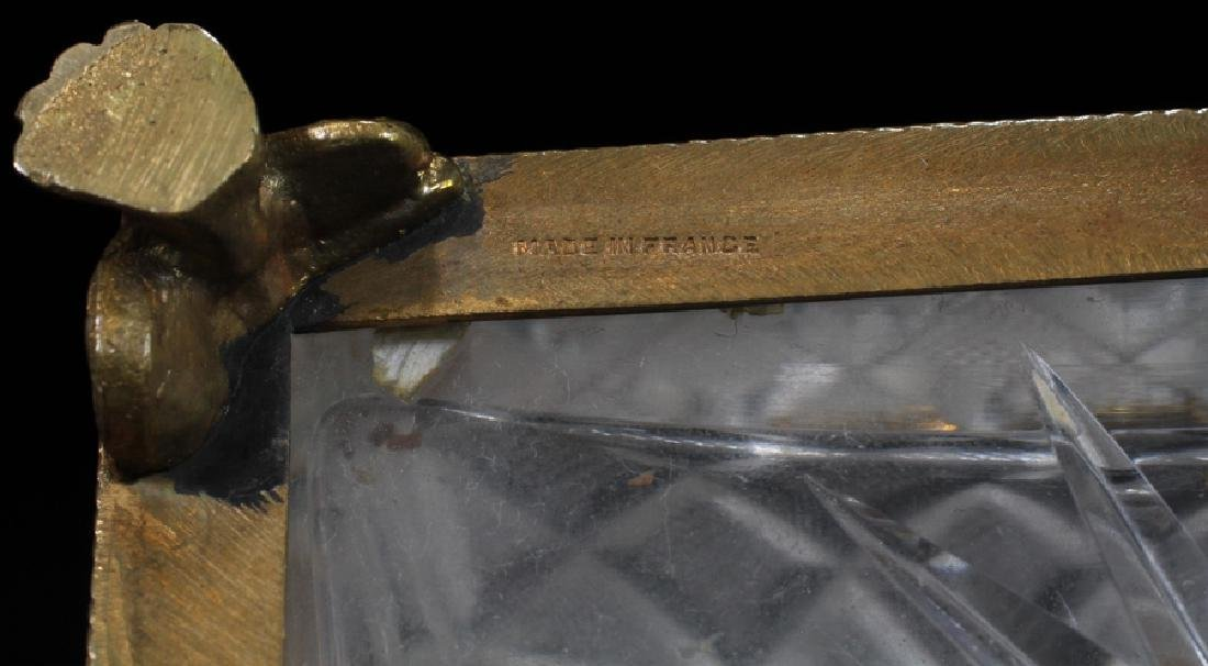 FRENCH CUT GLASS JEWEL CASKET, CA. 1900 - 3