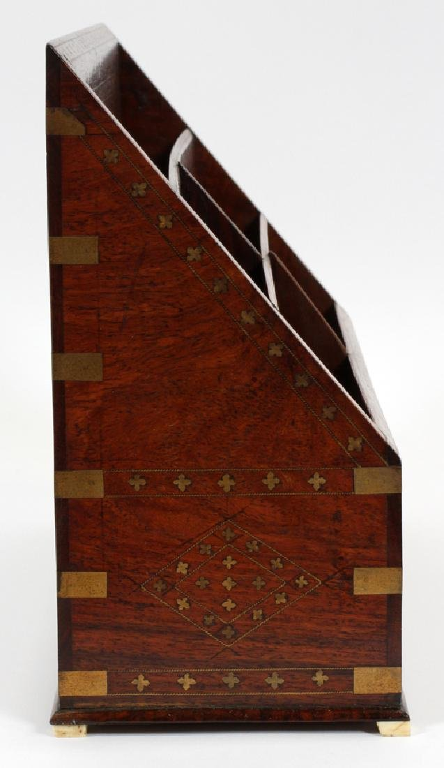 FRENCH ROSEWOOD & BRASS BOULLE LETTER FILE - 2