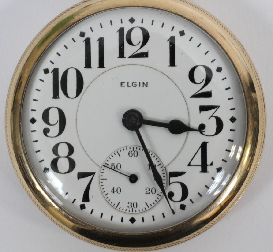 ELGIN RAILROAD GOLD FILLED  POCKET WATCH 21924242 - 2