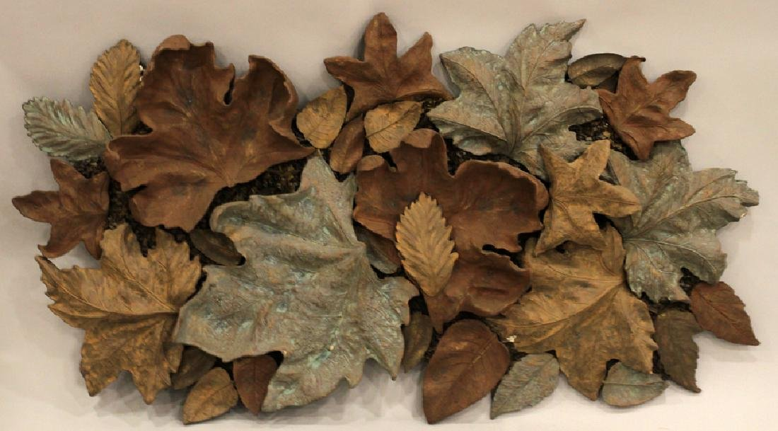 COMPOSITION WALL SCULPTURE AUTUMN LEAVES