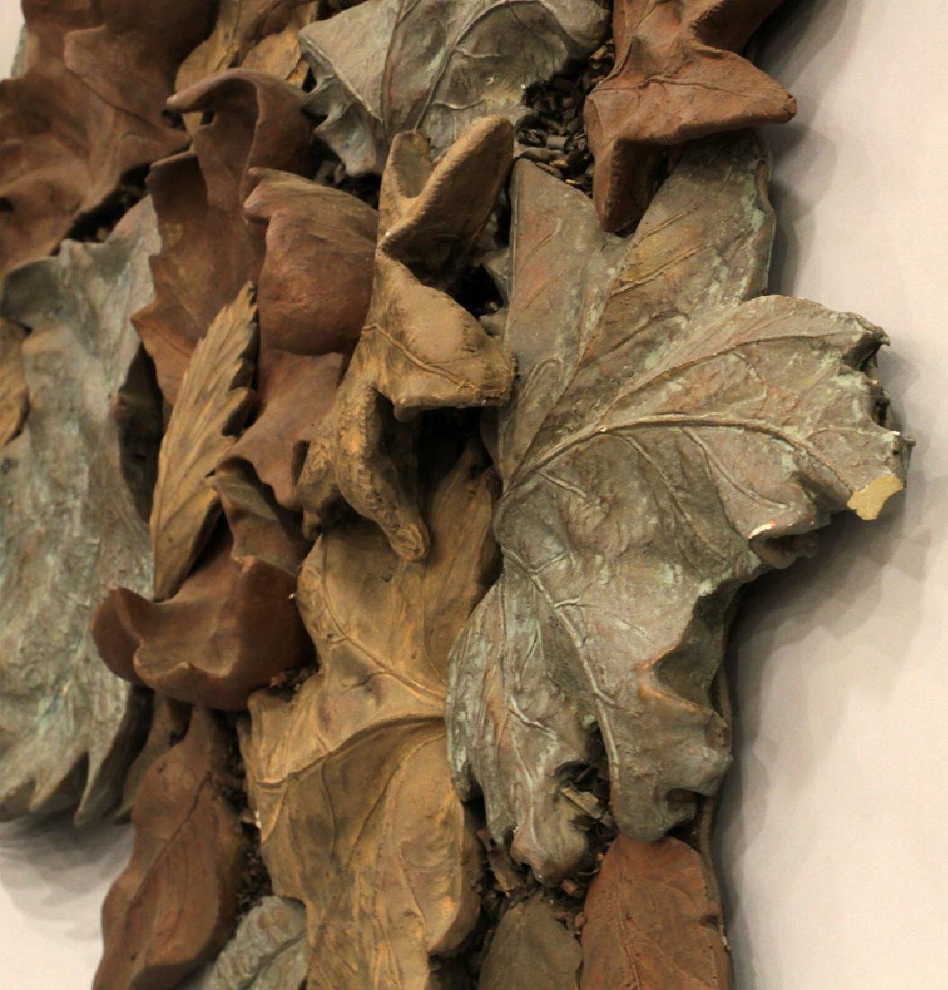 COMPOSITION WALL SCULPTURE AUTUMN LEAVES - 2