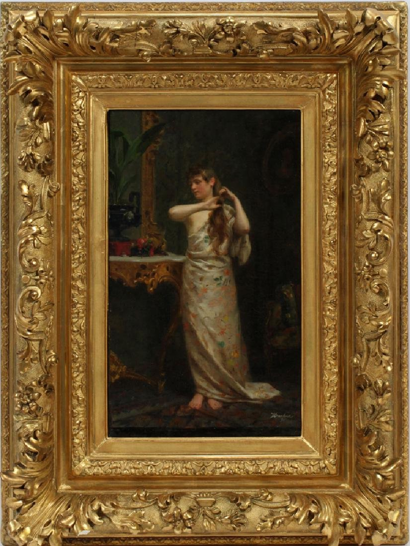 H. DARBOIS FRENCH OIL ON CANVAS, 1890