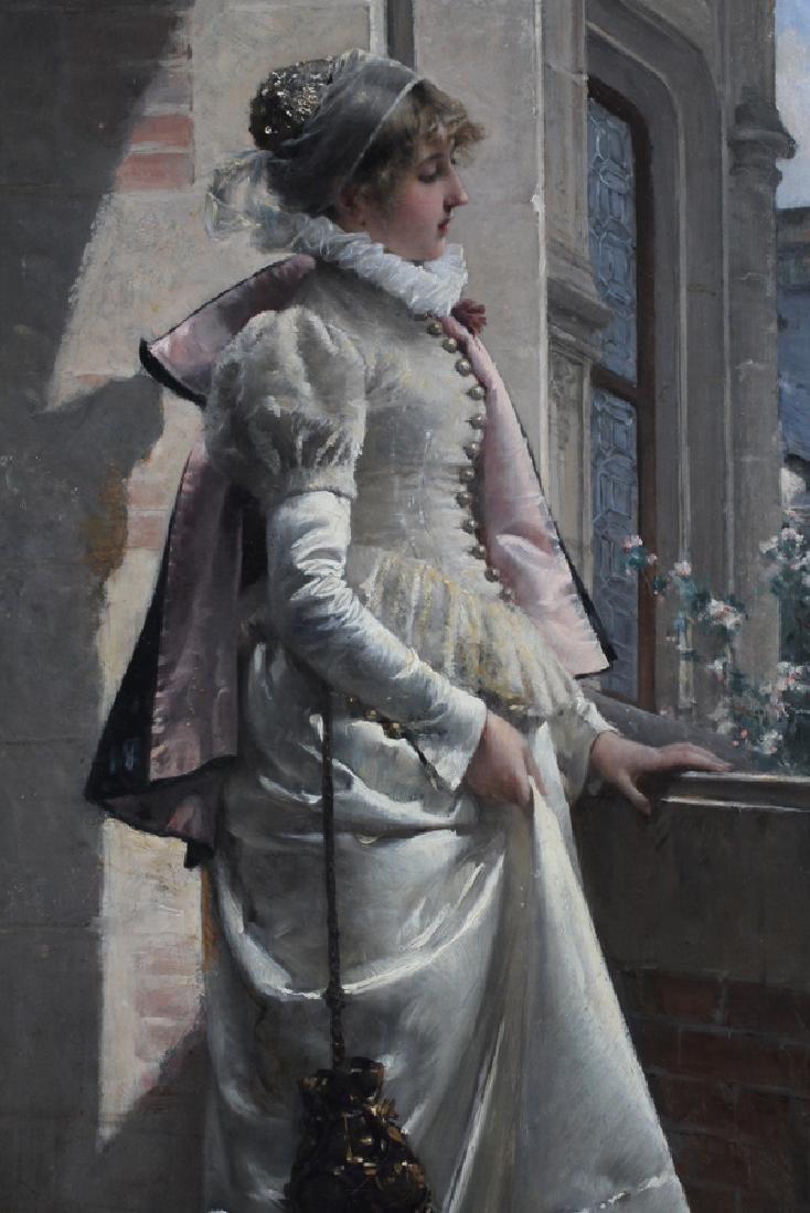 ADRIEN MOREAU ELEGANT LADY IN SATIN DRESS - 2