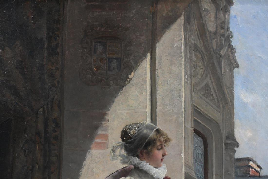 ADRIEN MOREAU ELEGANT LADY IN SATIN DRESS - 3