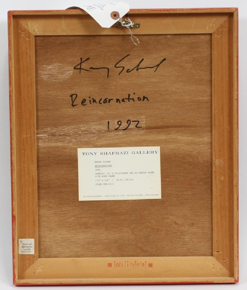 KENNY SCHARF, MIXED MEDIA, 1992 REINCARNATION - 3