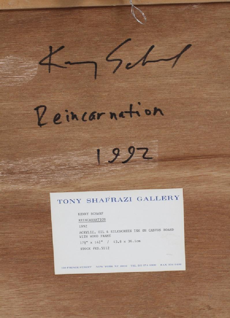 KENNY SCHARF, MIXED MEDIA, 1992 REINCARNATION - 4