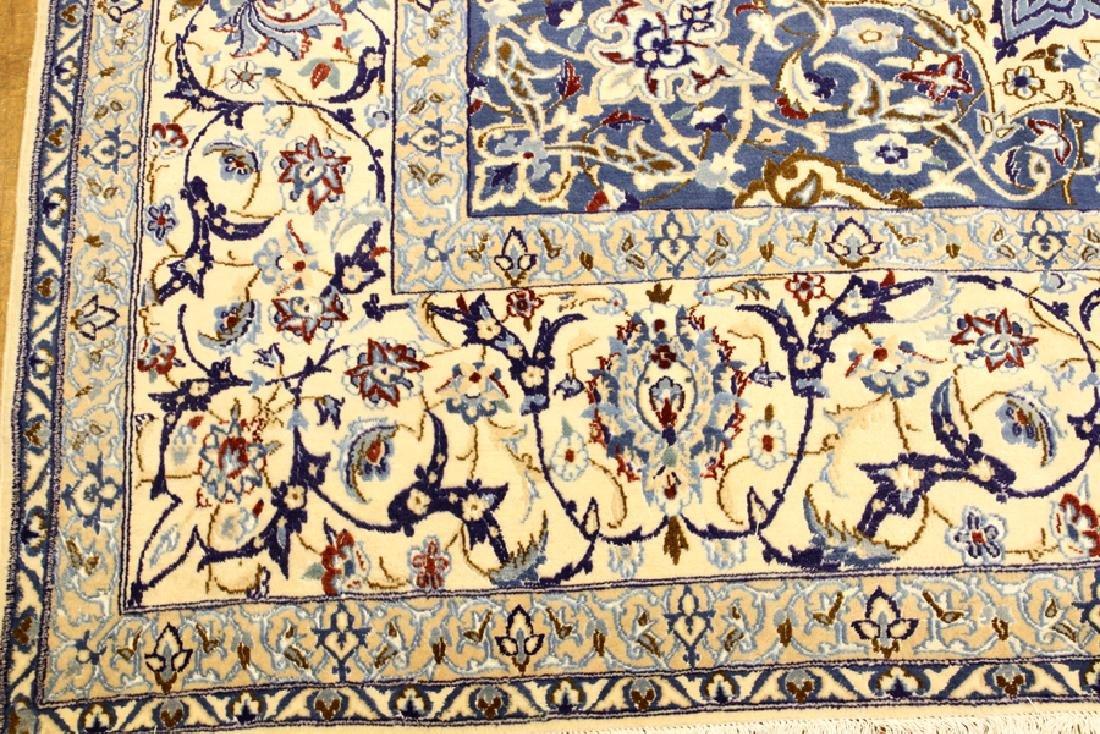 PERSIAN NAIN SILK AND WOOL CARPET - 2