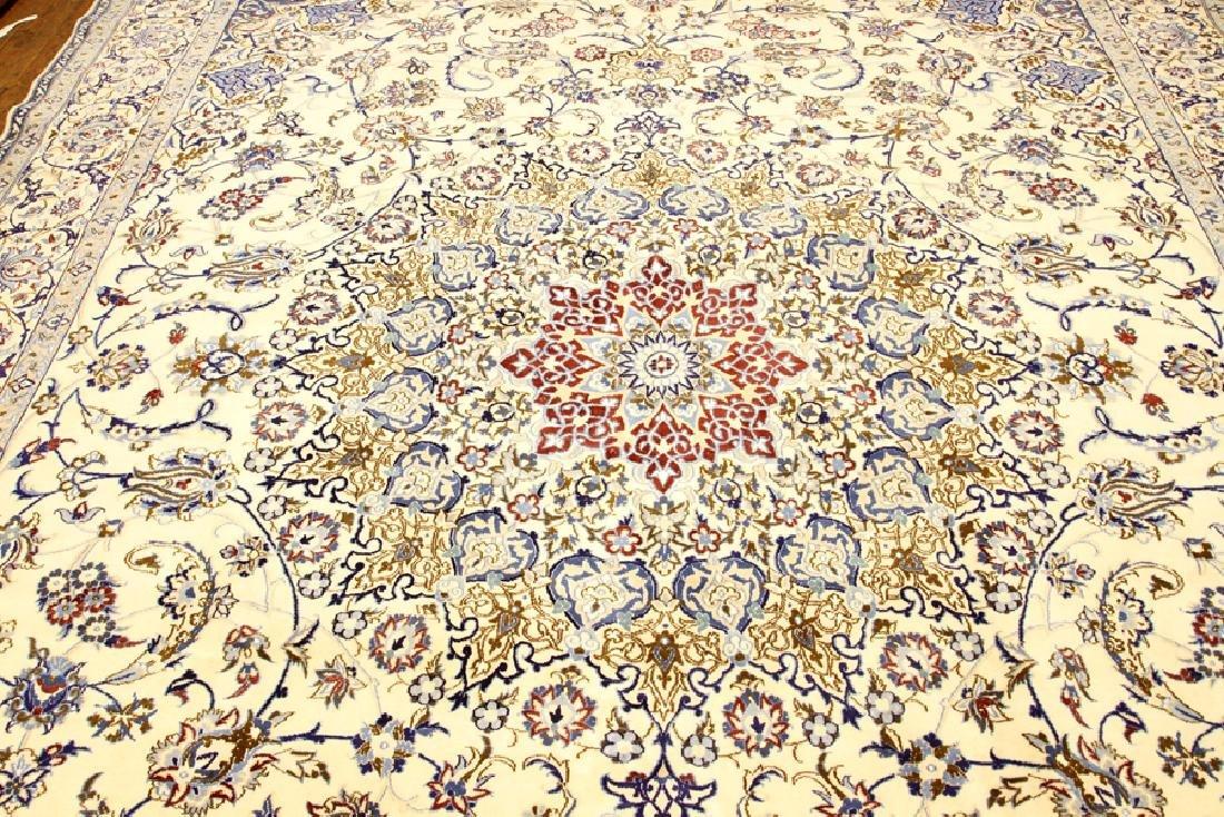 PERSIAN NAIN SILK AND WOOL CARPET - 4