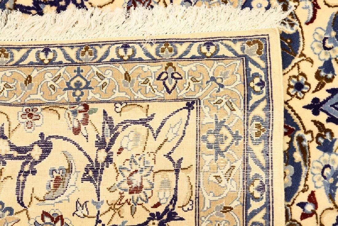 PERSIAN NAIN SILK AND WOOL CARPET - 6