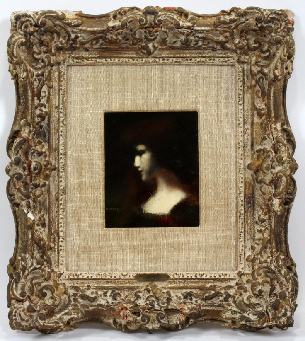 JEAN JACQUES HENNER OIL ON BOARD