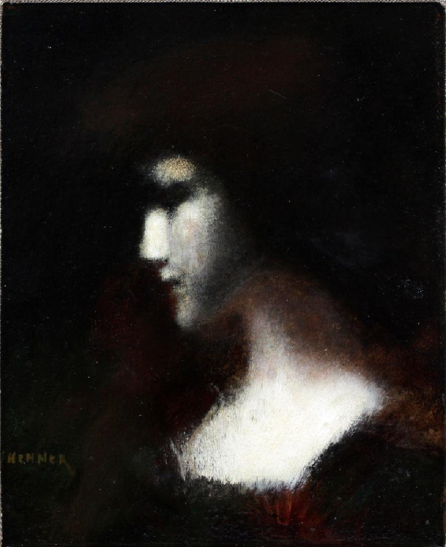 JEAN JACQUES HENNER OIL ON BOARD - 2