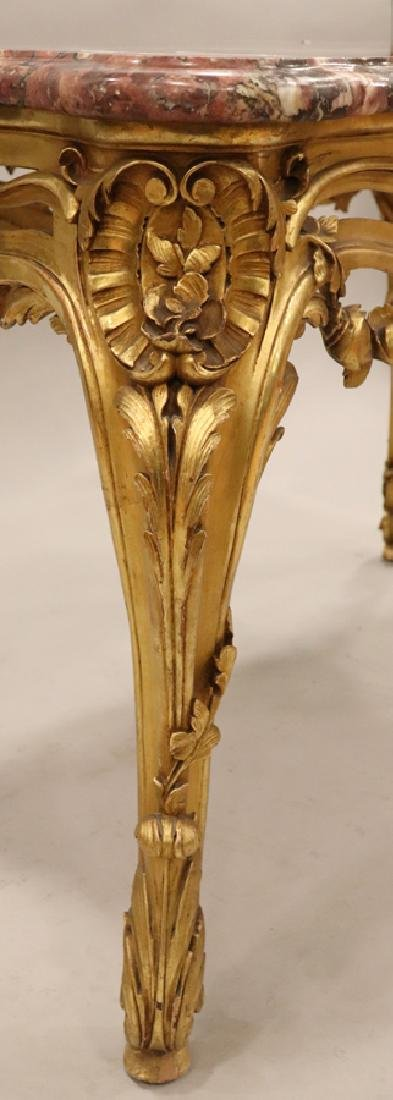 LOUIS XV STYLE MARBLE TOP  PARLOR TABLE - 2