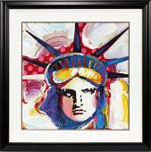 """PETER MAX GICLEE ON PAPER """"LADY LIBERTY"""""""