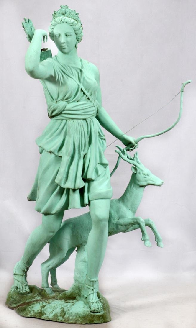 GREEN PATINATED  BRONZE CLASSICAL STYLE SCULPTURE