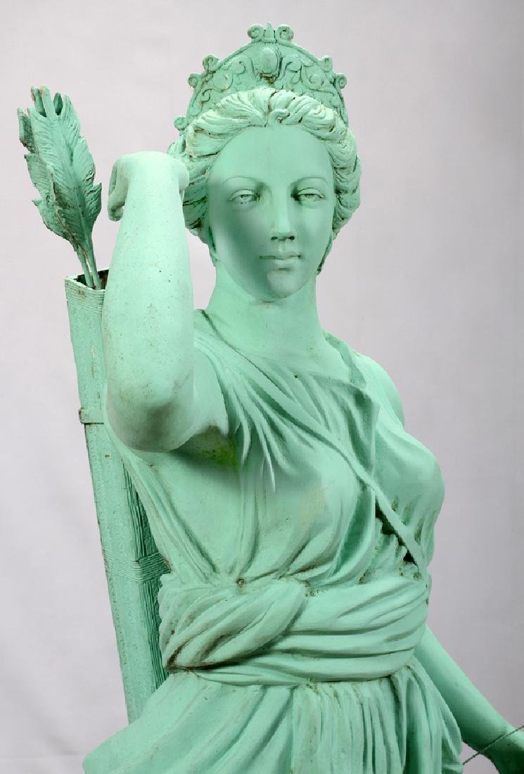 GREEN PATINATED  BRONZE CLASSICAL STYLE SCULPTURE - 3