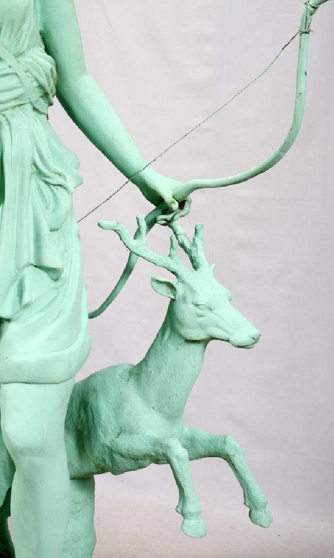 GREEN PATINATED  BRONZE CLASSICAL STYLE SCULPTURE - 4