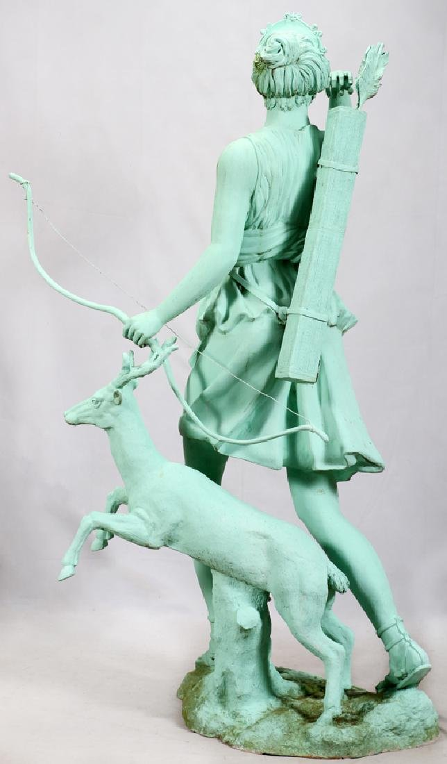 GREEN PATINATED  BRONZE CLASSICAL STYLE SCULPTURE - 5