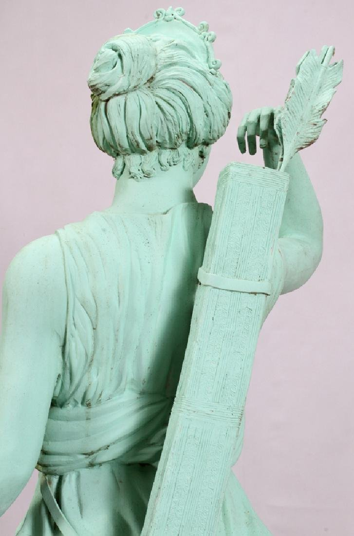 GREEN PATINATED  BRONZE CLASSICAL STYLE SCULPTURE - 6