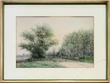 F EASTMAN JONES AMER 19TH 20TH C WATERCOLOR