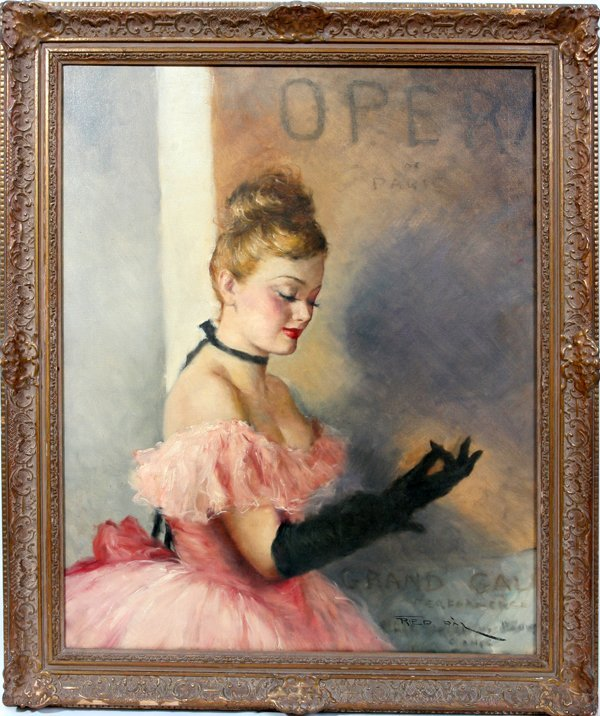 080008: PAL FRIED OIL ON CANVAS, BALLERINA IN PINK