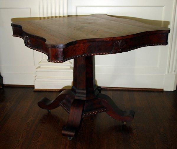 """080020: AMERICAN EMPIRE MAHOGANY PARLOR TABLE, H28"""""""
