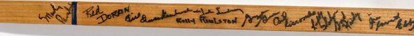 080072: RED WINGS SIGNED HOCKEY STICK, 1940-60 21 SIG - 2