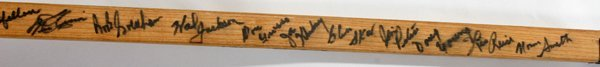 080072: RED WINGS SIGNED HOCKEY STICK, 1940-60 21 SIG - 3