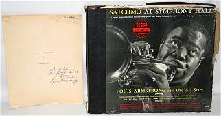 080105: LOUIS ARMSTRONG AUTOGRAPHED RECORD SET