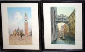 080342 UMBERTO ONGANIA WATERCOLORS VENICE