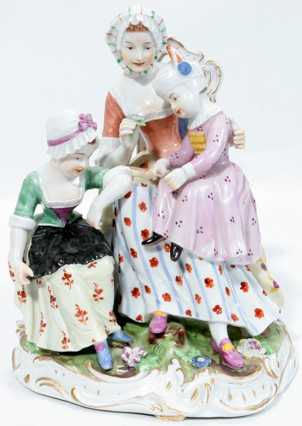 081002: ROYAL VIENNA PORCELAIN FIGURAL GROUPING, H7""
