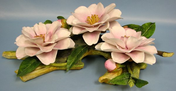 081012: CONNOISSEUR BISQUE FLOWER, DONATION CAMELLIA