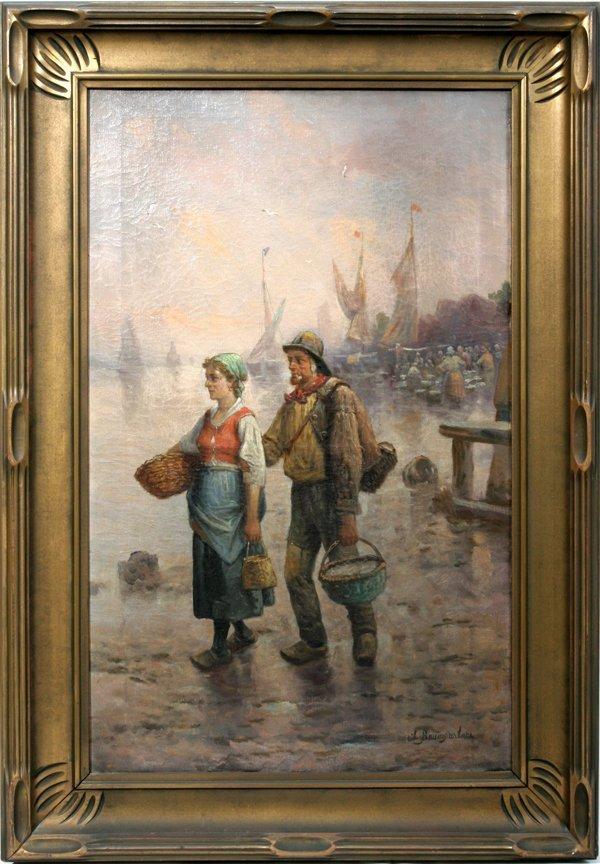 082008: ADOLF BAUMGARTNER-STOILOFF OIL ON CANVAS