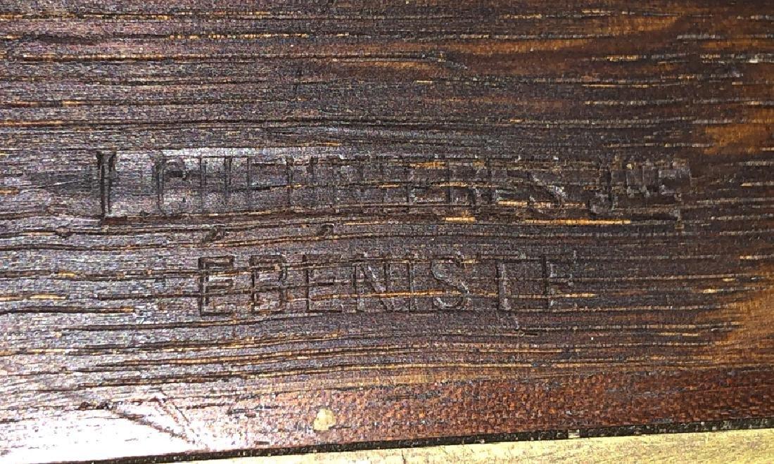 L. CHENNIERES JNE MAHOGANY MARBLE TOP TABLE - 3