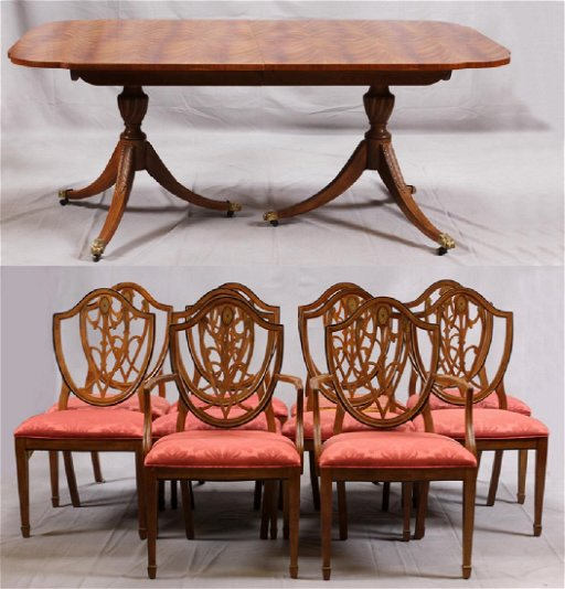Peachy Drexel Heritage Mahogany Dining Table W Chairs Bralicious Painted Fabric Chair Ideas Braliciousco