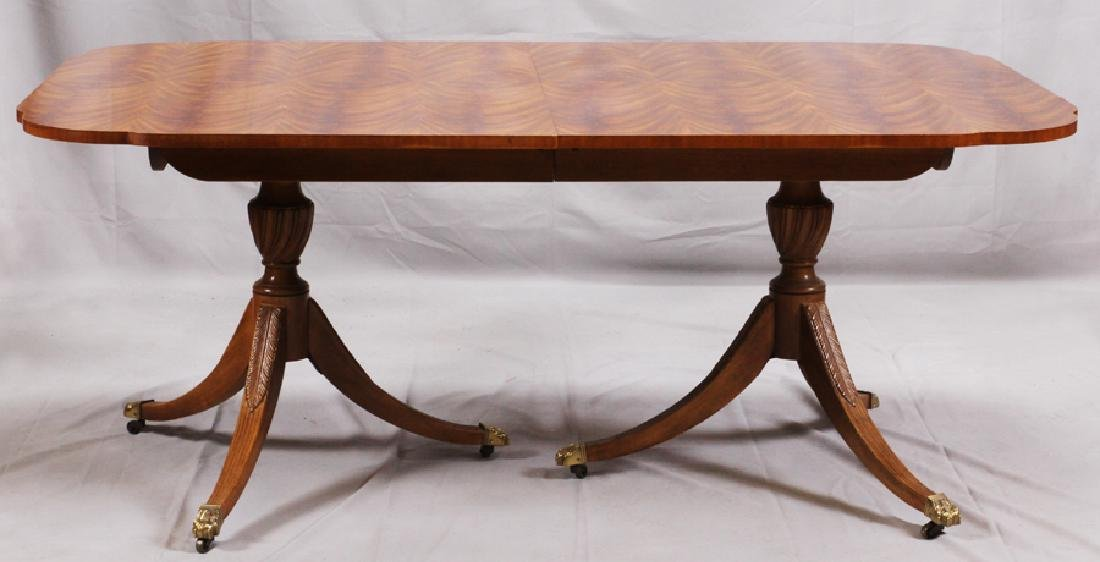 DREXEL HERITAGE MAHOGANY DINING TABLE W/ CHAIRS - 2