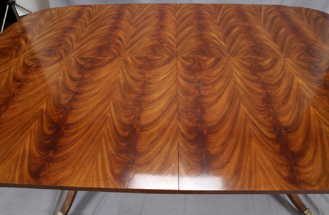 DREXEL HERITAGE MAHOGANY DINING TABLE W/ CHAIRS - 3