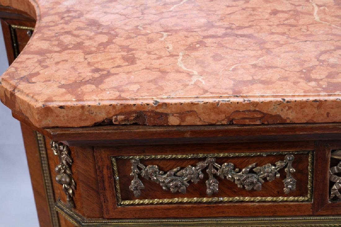 G. MALIN LOUIS XV STYLE MARBLE TOP MUSIC CABINET - 3
