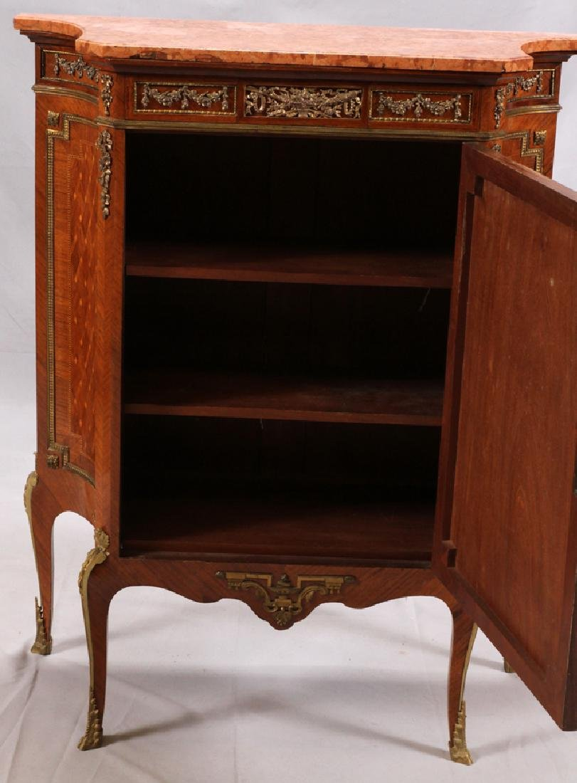G. MALIN LOUIS XV STYLE MARBLE TOP MUSIC CABINET - 4